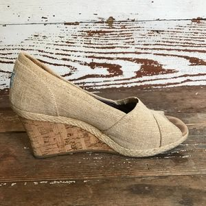 Toms Stella Natural Yarn Dye Wedge 8